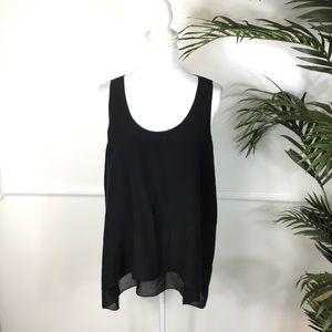 Eileen Fisher Black Silk Tank Womens Size Large
